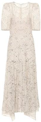 Veronica Beard Balsam printed chiffon maxi dress