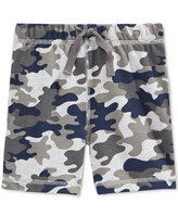 First Impressions Camo-Print Pull-On Shorts, Baby Boys, Only at Macy's