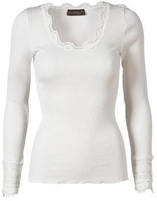 Rosemunde Long Sleeve Silk Blend Top - S - White