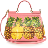Dolce & Gabbana Sicily medium pineapple-print leather tote