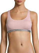 Calvin Klein Radiant Cotton-Blend Sports Bra