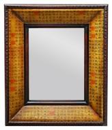 "Oriental Furniture Rustic Calligraphy Mirror - Rust (31"")"