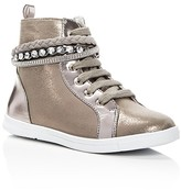 Stuart Weitzman Girls' Heather Metallic High Top Sneakers - Little Kid, Big Kid