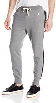 Todd Snyder + Champion Men's Faux Leather Side-Stripe Jogger Sweatpant