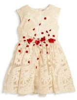 Halabaloo Toddler's & Little Girl's Floral Applique Embroidered Dress