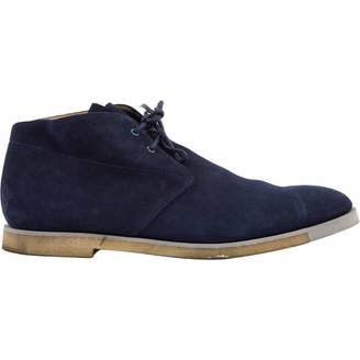 Tod's Blue Suede Lace ups