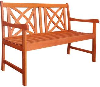 Vifah Malibu Two-Seater Wooden Garden Bench