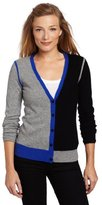 Sofie Women's 100% Cashmere Contrast Color-Block Cardigan