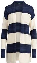 Ralph Lauren Striped Open-Front Cardigan
