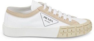 Prada Colorblock Canvas Sneakers