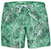Topman Green Palm Print Swim Shorts