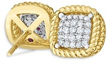 Roberto Coin 18K Yellow Gold New Barocco Diamond Stud Earrings