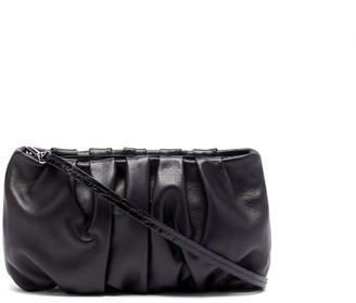 STAUD Bean Leather Shoulder Bag - Black