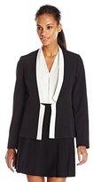 Kasper Women's Contrast Piping Flyaway Jacket