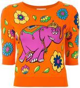Moschino elephant intarsia top
