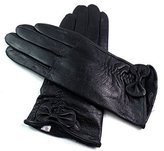 EMPORIUM LEATHER The Leather Emporium Women's Gloves Fully Faux Fur Lined Winer Warm