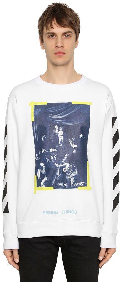 Off-White Off White Caravaggio Oversized Jersey Sweatshirt