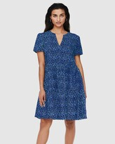 Thumbnail for your product : Only Women's Blue Mini Dresses - Zally Short Sleeve Dress - Size One Size, S at The Iconic