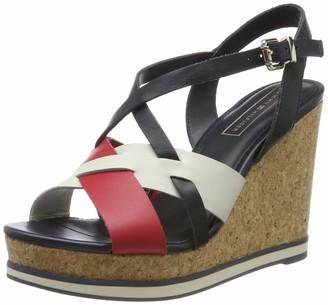 Tommy Hilfiger Women's Interwoven Pattern Wedge Platform Sandals