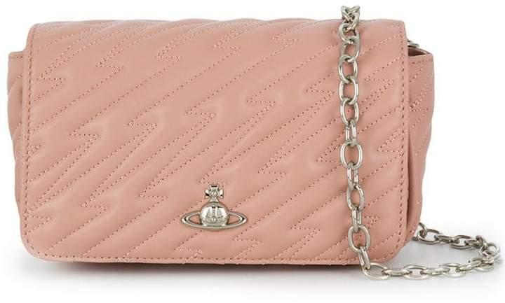 Vivienne Westwood pink quilted shoulder bag