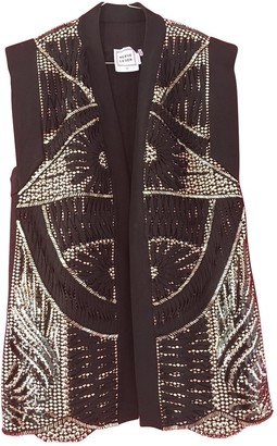 Herve Leger Black Glitter Jacket for Women