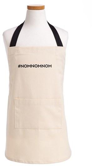 DESIGN IMPORTS '#NOMNOMNOM' Apron (Kids)