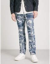 Anglomania Patchwork relaxed-fit tapered jeans
