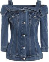 Alexander McQueen Off Shoulder Denim Shirt