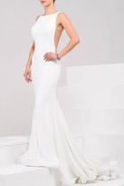 Jovani Sleeveless Open Back Dress in Ivory 37592A