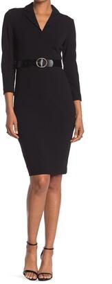 Calvin Klein Collared Belted Dress