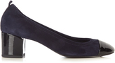 Lanvin Capped-toe suede pumps