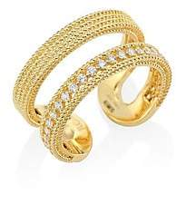 Roberto Coin Women's Double Symphony Diamond & 18K Yellow Gold Ring