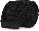 Peckham Rye Black Knitted Silk Tie