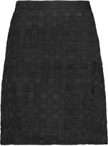 Clu Basketweave cotton and silk mini skirt