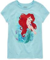Disney Girls Little Mermaid Sparkle Graphic T-Shirt - Big Kid