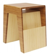 Pin It Brave Space Design Hollow End Table - Amber And Blonde Bamboo Ply