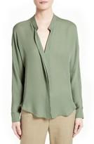 Vince Women's Sheer Silk Blouse