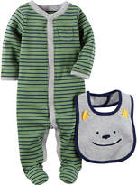 Carter's Little Baby Basics Boy Sleep and Play with Bib - Baby