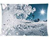 Huirong Pillowcase Design snowboard freestyle Switzerland Pillow Protector, Best Pillow Cover(Size 20 X 30 inch One side printing)