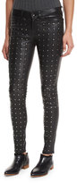 Rag & Bone Hyde Studded Leather Skinny Jeans