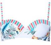 Dorothy Perkins Womens *Tropical Print Balconette Bikini Top- Fl Multi