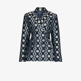 Thumbnail for your product : Charles Jeffrey Loverboy Blue Caterpillar Print Double-Breasted Blazer