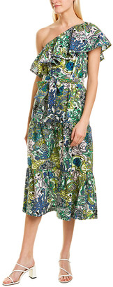 A.L.C. Janelle Silk-Blend Midi Dress