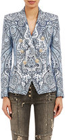 Balmain Women's Double-Breasted Antoinette Blazer-BLUE, WHITE