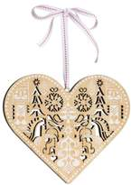 Nordstrom Wooden Heart Ornament