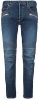 Balmain Logo Biker Slim Fit Jeans