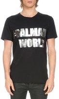 Balmain Short-Sleeve Hashtag Logo T-Shirt, Black/Gold