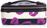 Marc by Marc Jacobs General Navy Multi Stripey Lips Large Travel Cosmetic Case