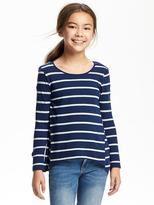 Old Navy Patterned Sharkbite-Hem Swing Tee for Girls