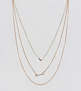 Reclaimed Vintage Inspired Heart & Arrow Multilayer Necklace